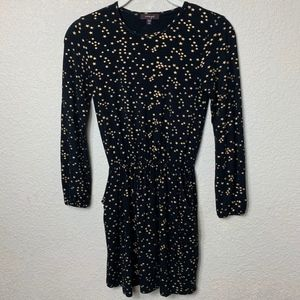 Girls Boutique Imoga Black Dress w Gold Stars - 10